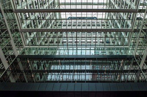 Building, Inside, Modern, Architecture, Windows