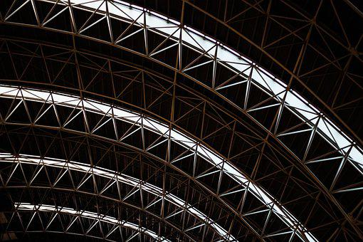 Symmetrical, Building, Airport, Architecture, Modern