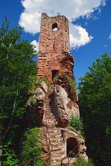 Ruin, Castle, Heritage, Alsace, Wasigenstein, Vosges