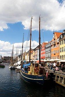 Ship, Water, Sea, River, Buildings, Boat