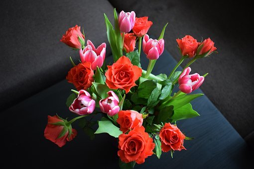 Flowers, Bouquet, Rose, Tulip, Nature, Opportunity