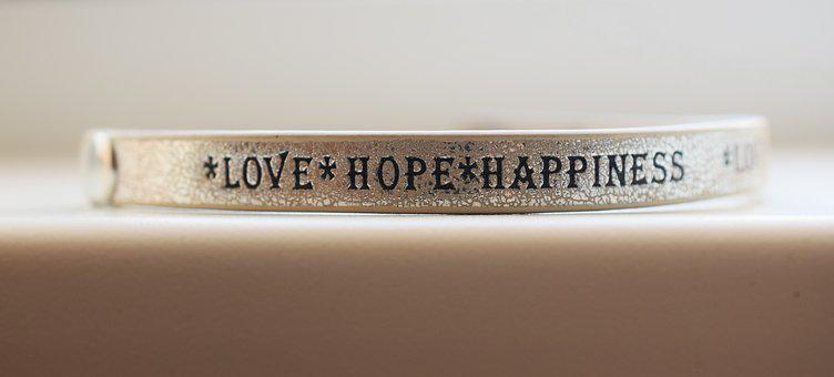Love, Hope, Happiness, The Inscription, Bracelet