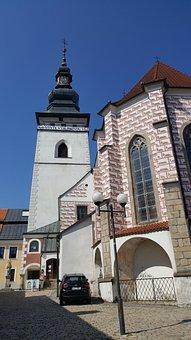 Tower, Pelhřimov, Czech Republic, Church, Architecture