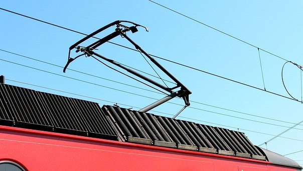 Pantograph, Electric Locomotive, Contact Wire