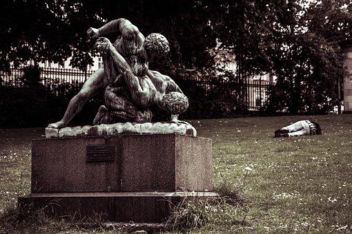 Art, Statue, Park, Copenhagen, Alone, Culture