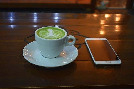 Green Tea Latte, Tea, Latte, Coffee Shop, Cup, Drink