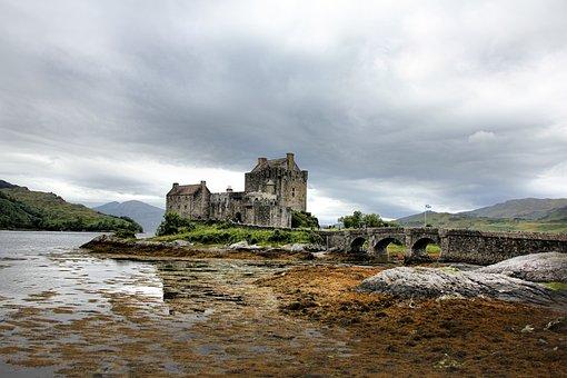 Scotland, Eilean Donan Castle, Castle, Masonry