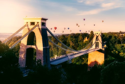 Bristol, England, Great Britain, Hot Air, Balloons