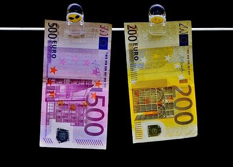 Money, Seem, Euro Bills, Currency, Finance, Dollar Bill
