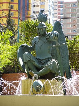 Bolivian Statue, La Paz, Guardian, Statue, Bolivia