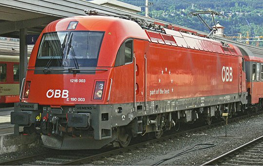 Electric Locomotive, Innsbruck Hbf, öbb