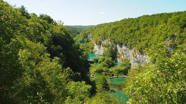 Plivicer Lakes, Croatia, Forest, National Park