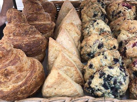 Farmers Market, Pastry, Fresh, Croissant