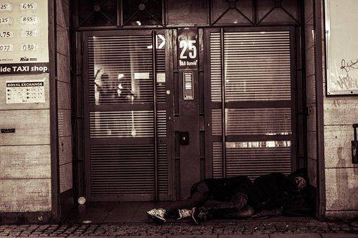 Homeless, Street, Copenhagen, Homelessness, Person