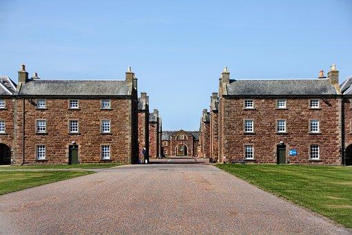 Scotland, Barracks, Fortress, Fort George, Line