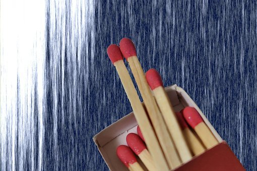 Matches, Match, Fire, Match Head, Red, Sulfur, Kindle
