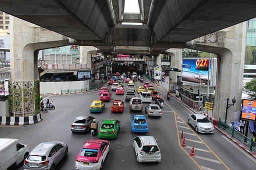 Bangkok, Thailand, Jam, Traffic, Asia, Travel