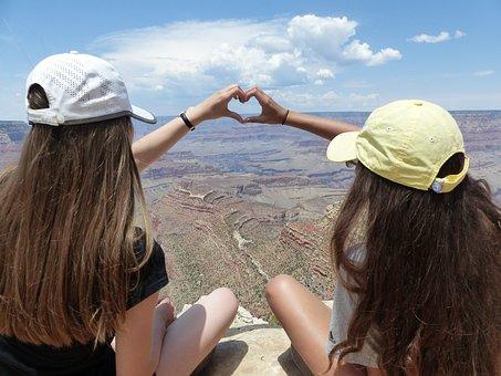 Usa, America, Grand Canyon, Travel, Landscape, Heart
