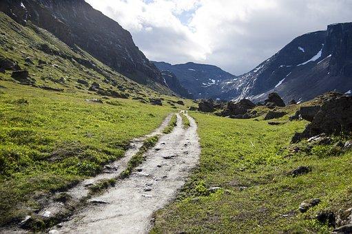 Path, Small Road, Trollsjön, Kiruna, Mountain