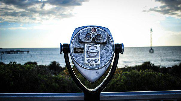 Lookout, Ocean, View, Landscape, Tower Viewer
