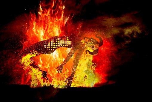 Fire, Burn, Hell, Burnout Fire, Fire Devil, Figure