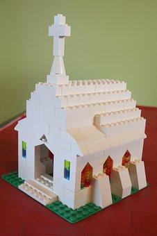 Lego, Church, Build, Building, Architecture, Exterior
