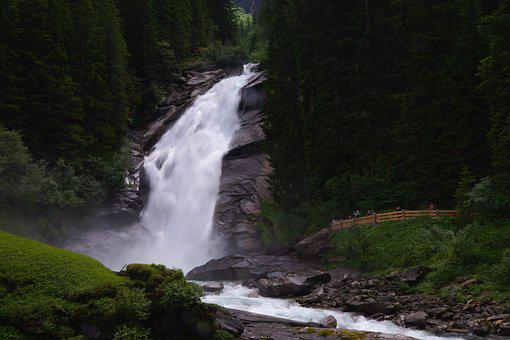 Krimml Waterfalls, Waterfall, Austria, Mountains