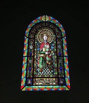 Stained Glass Window, Nuria, Mountain, Valley