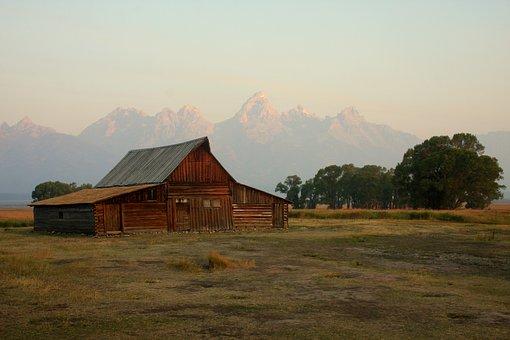 Grand Teton, Teton, National Park, Barn, Iconic