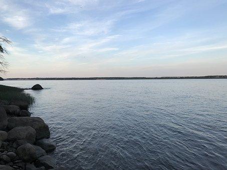 River, St Lawrence, Canada, Quebec, Landscape, Peaceful