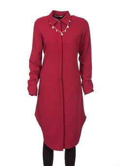 Red, Dress, Fabric, Modern, Genre, Style, Design