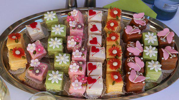 Petit Four, Cake, Tart, Sweet, Pastries, Bake, Small