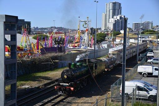Australia, Brisbane, Steam, Train, Aussie, Queensland