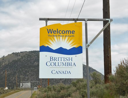 Tourism, Border, British Columbia, Canada, Sun, Holiday
