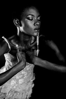 Women's, Black, Dark, Model, Face, Human