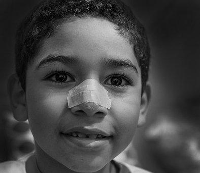 Child, Blur, People, Life, Alegre, Joy, Black And White
