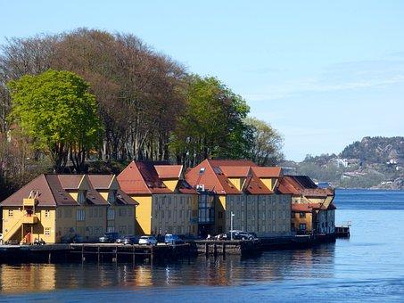 Dock, Wharf, Building, Fiord, Marine, Nautical, Harbour