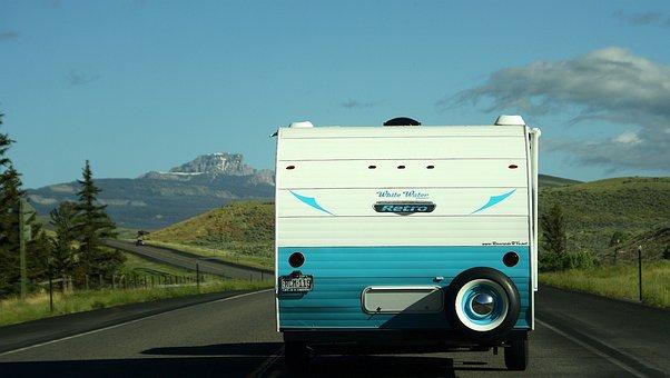 Usa, Camper, Classic, Caravan, Road Trip, Retro