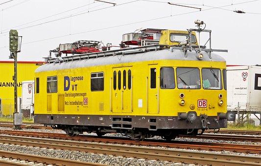 Diesel Railcar, Rail Service, Catenary Measurement Car