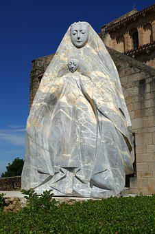 Madonna, Christ, Image, Statue, Abstract, Modern, Maria