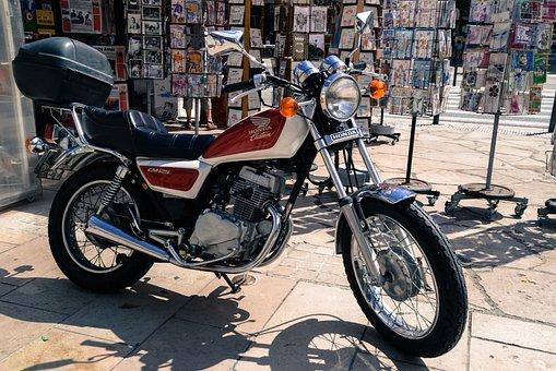 Parked, Honda, Motorcycle, Street, Motor, Bike, Ride