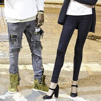 Street Wear, Ripped Jeans, Outfit, Sneakers, Lifestyle