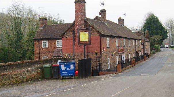 Coalport, Telford, Shropshire, England, Road, Pub