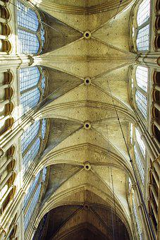 Reims, Cathedral, Nave, Ceiling, Gothic Architecture
