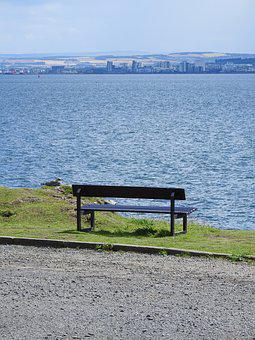 View, Bench, Loneliness, Contemplation, Rest, Sea