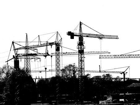Site, Crane, Baukran, Technology, Construction Work