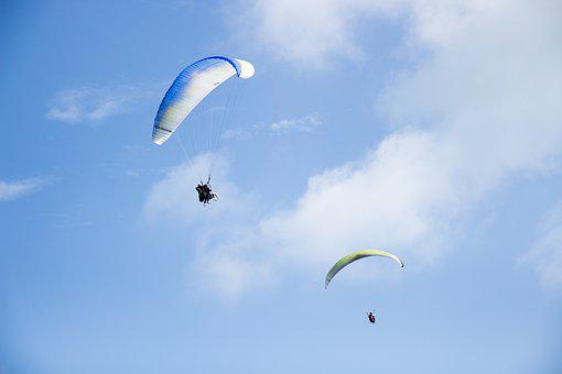 Skydiving, Parachuting, Fly, Flying, Outdoor, Activity