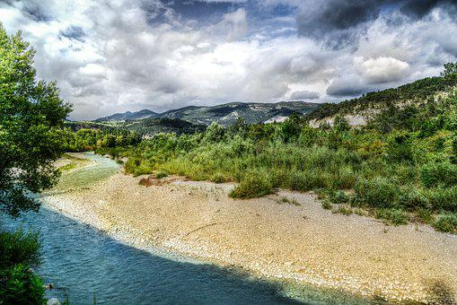 River, Drome, France, Travel, Europe, Outdoor