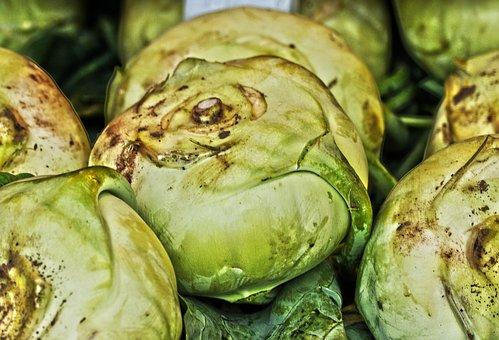Kohlrabi, Vegetables, Kohl, Vegetable Plant, Upper Beet