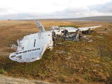 Aircraft, Crash, Wreck, Arctic, Fuselage, Wings, Metal